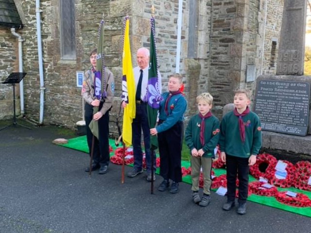1st Marown Scouts On Parade