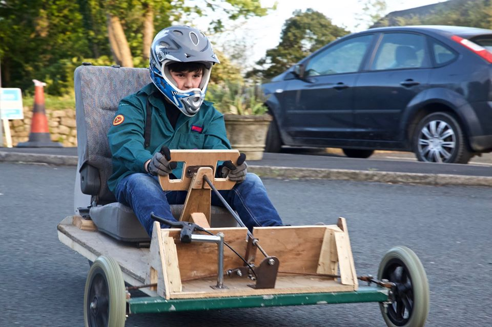Scouts Go Carting