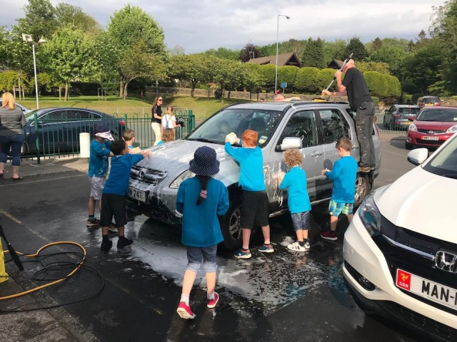 Beavers at the car wash